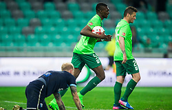 Blessing Eleke of NK Olimpija reacts after he scored first goal for Olimpija during football match between NK Olimpija Ljubljana and ND Gorica in Round #26 of Prva liga Telekom Slovenije 2016/17, on March 29, 2017 in SRC Stozice, Ljubljana, Slovenia. Photo by Vid Ponikvar / Sportida