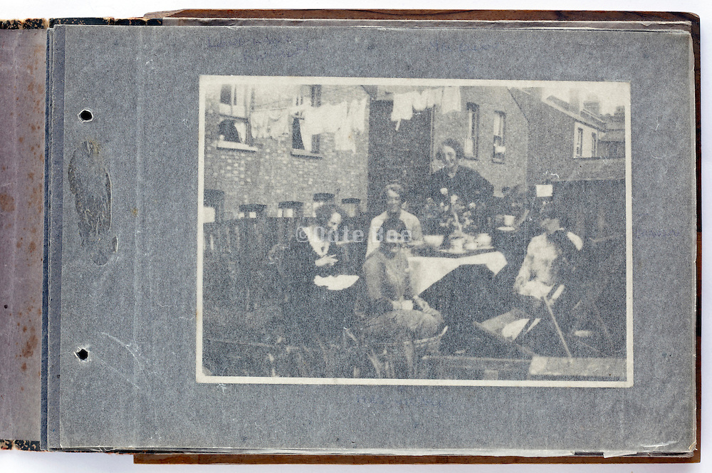 photo album with a  happy moment family and friends gathering 1920s London