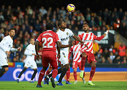 November 3, 2018 - Valencia, Valencia, Spain - Geoffrey Kondobia of Valencia CF during the La Liga match between Valencia CF and Girona FC at Mestala Stadium on November 3, 2018 in Valencia, Spain (Credit Image: © AFP7 via ZUMA Wire)