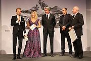 Motorsportler des Jahres, Nico ROSBERG, Formel 1 Pilot here with Gerhard Berger, Hermann TOMCZYK on Stage - award ceremony, <br /> ADAC SPORT GALA 2016 - 17.12.2016, Motorsportler Ehrung in München, Motorsportler des Jahres - Photo Credit: © ATP / THILL Arthur