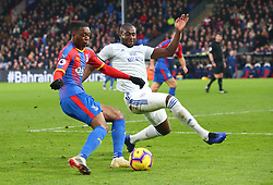 December 26, 2018 - London, England, United Kingdom - London, England - 26 December, 2018.L-R Crystal Palace's Aaron Wan-Bissaka and Cardiff City's Sol Bamba.during English Premier League between Crystal Palace and Cardiff City at Selhurst Park stadium , London, England on 26 Dec 2018. (Credit Image: © Action Foto Sport/NurPhoto via ZUMA Press)