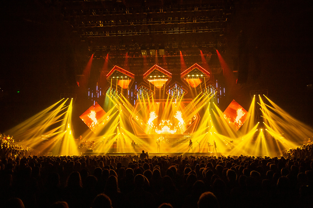 The Trans-Siberian Orchestra performs at the Fiserv Forum in Milwaukee, WI on Friday, December 27, 2019.