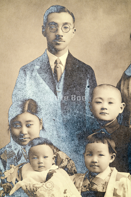 family studio portrait Japan 1933