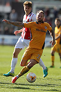 Sean Rigg of Newport county in action. EFL Skybet football league two match, Newport county v Cheltenham Town at Rodney Parade in Newport, South Wales on Saturday 10th September 2016.<br /> pic by Andrew Orchard, Andrew Orchard sports photography.