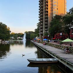 Lake Anne Plaza on a Summer Evening  Around Reston