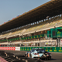 Empty grandstands at the Le Mans 24H, 2020