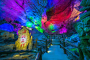 Feb 29, 2016 - Hechi, China -  A large number of jars of Chinese liquor are stored at a karst cave on February 29, 2016 in Hechi, Guangxi Zhuang Autonomous Region of China. The karst cave was open to the public in September last year, and there are 50,000 tons of Chinese liquor being stored in the cave in total.  <br /> (Credit Image: © Exclusivepix Media)