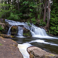 A waterfall in Bowen Park along the Millstone River in Nanaimo, British Columbia, Canada.