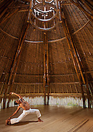 Yoga is practiced in the cool and breezy embrace of the Mandala Alit pavillion.