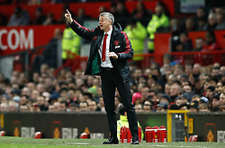 Manchester United interim manager Ole Gunnar Solskjaer gestures on the touchline during the Premier League match at Old Trafford, Manchester.