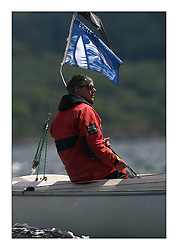 Sailing - The 2007 Bell Lawrie Scottish Series hosted by the Clyde Cruising Club, Tarbert, Loch Fyne...Simon Pender on the helm of GBR432 Sonar Grouse Sportsboat Class 2.