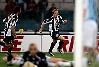 Roma 24/4/2005 Campionato Italiano Serie A<br /> Lazio Juventus 0-1<br /> Pavel Nedved Juventus celebrates after scoring <br /> Pavel Nedved festeggia dopo il gol <br /> Photo Fabrizio Corradetti Graffiti