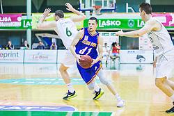 Djordje Lelic of KK Helios Suns during basketball match between KK Zlatorog and KK Helios Suns in 1st match of Nova KBM Slovenian Champions League Final 2015/16 on May 29, 2016  in Dvorana Zlatorog, Lasko, Slovenia.  Photo by Ziga Zupan / Sportida