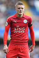 Jamie Vardy of Leicester City looking on. Premier league match, Chelsea v Leicester city at Stamford Bridge in London on Saturday 15th October 2016.<br /> pic by John Patrick Fletcher, Andrew Orchard sports photography.