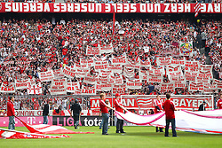 14.05.2011, Allianz Arena, Muenchen, GER, 1.FBL, FC Bayern Muenchen vs VfB Stuttgart, im Bild  Fanaktion, EXPA Pictures © 2011, PhotoCredit: EXPA/ nph/  Straubmeier       ****** out of GER / SWE / CRO  / BEL ******