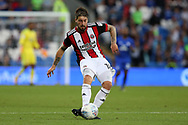 Kieron Freeman of Sheffield United in action. EFL Skybet championship match, Cardiff city v Sheffield Utd at the Cardiff City Stadium in Cardiff, South Wales on Tuesday 15th August 2017.<br /> pic by Andrew Orchard, Andrew Orchard sports photography.
