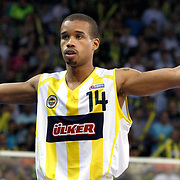 Fenerbahce Ulker's Lynn Terence GREER during their Turkish Basketball league Play Off Final Sixth Leg match Fenerbahce Ulker between Efes Pilsen at the Abdi Ipekci Arena in Istanbul Turkey on Wednesday 02 June 2010. Photo by Aykut AKICI/TURKPIX