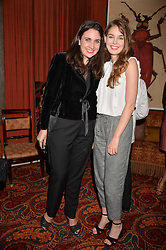 Polly-Anne Midwood & Millie Loggie at a party to launch the Barr & Bass 'Aya' brand at Mark's Club, 46 Charles Street, Mayfair, London England. 14 December 2016.