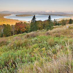 Mooselookmeguntic Lake as seen from the Appalachian Trail at the Height of Land overlook on ME 17, in Rangeley, Maine..