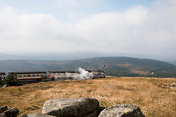 Steam train passing through Brocken