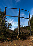 Gate on abandoned land, Catalonia