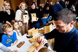 Novinarska konferenca in predstavitev projekta Mi Bosch zgradil hisico ob 25-letnici podjetja Bosch v Sloveniji, Cekinov grad, Ljubljana, Slovenija. Foto: Vid Ponikvar / Sportida