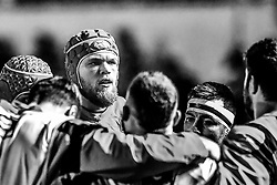 Dragons' Joseph Davies during the pre match warm up<br /> <br /> Photographer Craig Thomas/Replay Images<br /> <br /> Guinness PRO14 Round 13 - Scarlets v Dragons - Friday 5th January 2018 - Parc Y Scarlets - Llanelli<br /> <br /> World Copyright © Replay Images . All rights reserved. info@replayimages.co.uk - http://replayimages.co.uk