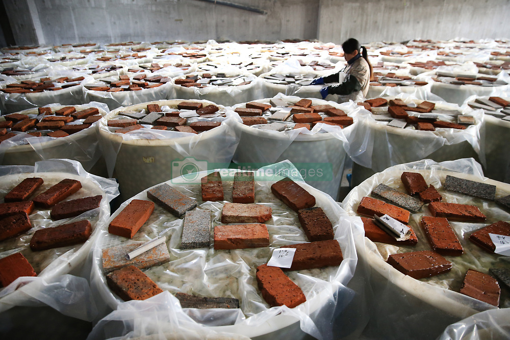 April 17, 2018 - Gaoyou, China - Workers at a salted duck egg processing factory in Gaoyou, east China's Jiangsu Province. Salted duck egg processing industry has become an important part of economic development in Gaoyou, Jiangsu Province. (Credit Image: © SIPA Asia via ZUMA Wire)