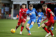 Peterborough United forward Matt Godden (9) with a shot during the EFL Sky Bet League 1 match between Peterborough United and Walsall at London Road, Peterborough, England on 22 December 2018.