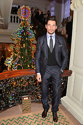 DAVID GANDY at the Claridge's Christmas Tree By Dolce & Gabbana Launch Party held at Claridge's, Brook Street, London on 26th November 2013.
