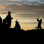 Ryder Cup 2016. Day Two. Brandt Snedeker of the United States practicing on the driving range at dawn before the start of competition during the Ryder Cup at the Hazeltine National Golf Club on October 01, 2016 in Chaska, Minnesota.  (Photo by Tim Clayton/Corbis via Getty Images)