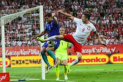 01-06-2016 POL: Polen - Nederland, Gdansk<br /> Oefenwedstrijd dat met 2-1 wordt gewonnen / Robert Lewandowski (POL), Jeffrey Bruma (NED) <br /> <br /> ***NETHERLANDS ONLY***