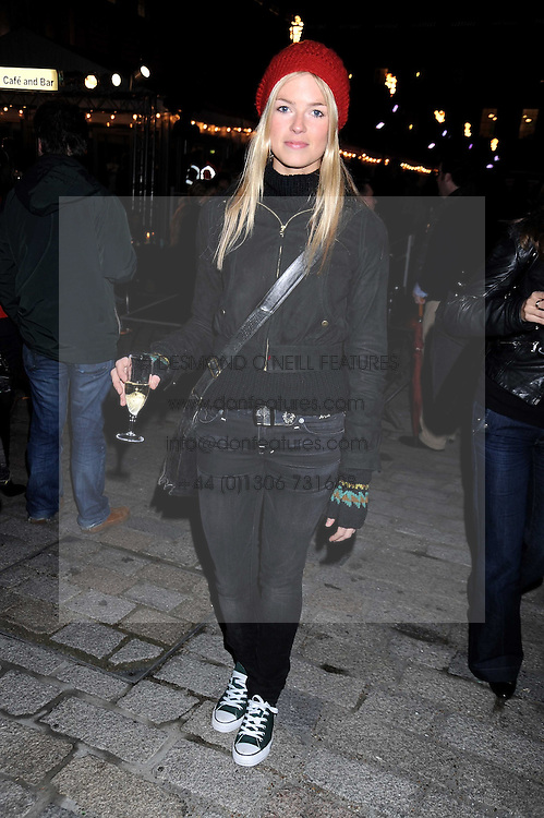 ISABELLA ANSTRUTHER-GOUGH-CALTHORPE at the opening of the Somerset House ice Rink for 2008 sponsored by Tiffany & Co held at Somerset House, The Strand, London on 18th November 2008.