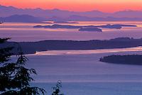 San Juan Islands, Chuckanut Mountains Sunset