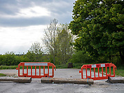 A car park closed due to the Coronavirus Covid-19 pandemic on 7th May 2020 near Hutton-le-Hole, North Yorkshire, United Kingdom. Since the UK government imposed a countrywide lockdown on the evening of 23rd March the UK population has been advised to stay home to protect the NHS.