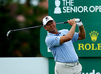 Golf - 2019 Senior Open Championship at Royal Lytham & St Annes - First Round <br /> <br /> Retief Goosen (RSA) drives off the 16th tee.<br /> <br /> COLORSPORT/ALAN MARTIN