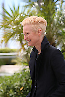 Actress Tilda Swinton.at Only Lovers Left Alive Photocall Cannes Film Festival On Saturday 26th May May 2013