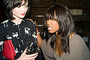 SOPHIE ELLIS-BEXTOR AND BEVERLEY KNIGHT, The Launch of the Cavalli Selection. 17 Berkeley St. London. 29 May 2008.   *** Local Caption *** -DO NOT ARCHIVE-© Copyright Photograph by Dafydd Jones. 248 Clapham Rd. London SW9 0PZ. Tel 0207 820 0771. www.dafjones.com.