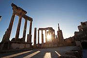 Ancient Roman city of Dougga, a UNESCO World Heritage Site in northern Tunisia