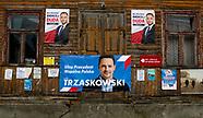Plakaty wyborcze w Tykocinie