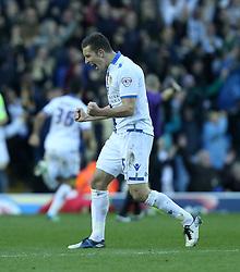 Leeds United's Jason Pearce celebrates the second goal-Photo mandatory by-line: Matt Bunn/JMP - Tel: Mobile: 07966 386802 02/11/2013 - SPORT - FOOTBALL - Elland Road - Leeds - Leeds United v Yeovil Town - Sky Bet Championship