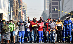 South Africa - Pretoria - 21 July 2020 - Striking workers storm Tshwane House demanding outstanding payments.<br /> <br /> Picture: Thobile Mathonsi/African News Agency(ANA)