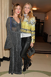 Left to right, JAZZY DE LISSER and LADY MARY FURZE at a Dinner to celebrate the launch of the Mulberry Cara Delevingne Collection held at Claridge's, Brook Street, London on 16th February 2014.