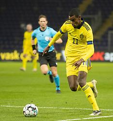 Alexander Isak (Sverige) under venskabskampen mellem Danmark og Sverige den 11. november 2020 på Brøndby Stadion (Foto: Claus Birch).