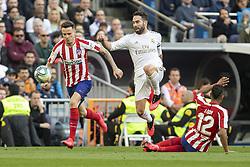Real Madrid´s Daniel Carvajal and Atletico de Madrid´s during La Liga Real Madrid v Atletico de Madrid football match at Santiago Bernabeu Stadium in Madrid, Spain. February 01, 2020. Photo by David Jar/AlterPhotos/ABACAPRESS.COM