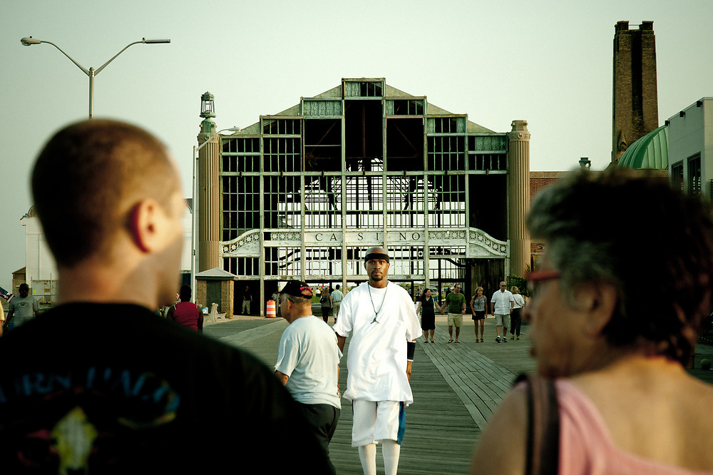The neglected and dilapidated Casino on the  Asbury boardwalk