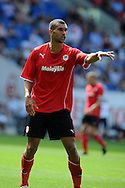 Cardiff city's Steven Caulker in action. Pre season friendly match, Cardiff city v Athletic Club Bilbao at the Cardiff city stadium in Cardiff,  South Wales on Saturday 10th August 2013. pic by Andrew Orchard,  Andrew Orchard sports photography,