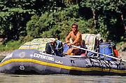 RAFTING,NEPAL, SUN KOSI(river), Gerry Moffatt in oar boat