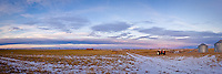 I went out for a sunrise whoot with my Dad and we managed to find a beautiful pastoral setting with a Chinook Arch highlighting the horizon.  The open prairie is so big that a regular shot just didn't do it justice, so I had to make a panoramic image to really show it off...©2007, Sean Phillips.http://www.Sean-Phillips.com