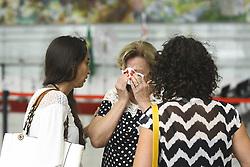 December 3, 2016 - Na foto Dona Marines Spinosa, mãe do jornalista Lilácio Pereira Junior, chega ao lugar do velório. Os corpos dos jornalista da FOX Sports, Lilácio Pereira Junior e Devair Paschoalan que morreram no acidente com o avião que transportava o time da Chapecoense, estão sendo aguardados para o velório na Assembleia Legislativa do Estado de São Paulo neste sábado  (Credit Image: © Aloisio Mauricio/Fotoarena via ZUMA Press)